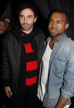 O estilista Ricardo Tisci e Kanye West