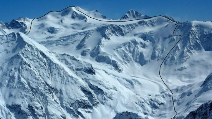 Wildspitze Extrem, Aufstieg Jubiläumsgrat, Freeride Abfahrt über Taschach Nord