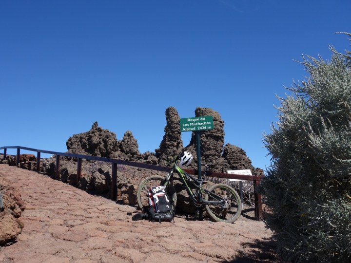 Direkt am Roque de los Muchachos, 2.426 m