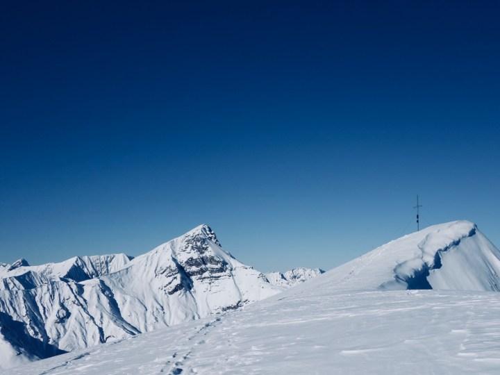 Tschachaun Gipfel mit Blick auf's Ost-Face der Wetterspitze