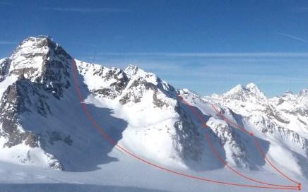 Brunnenkogel Freeride Varianten am Pitztaler Gletscher