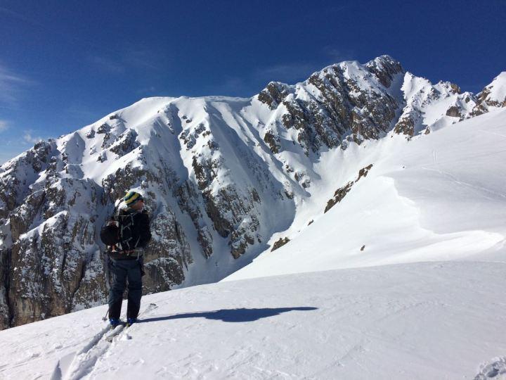 Scouting new lines am Ursprungssattel