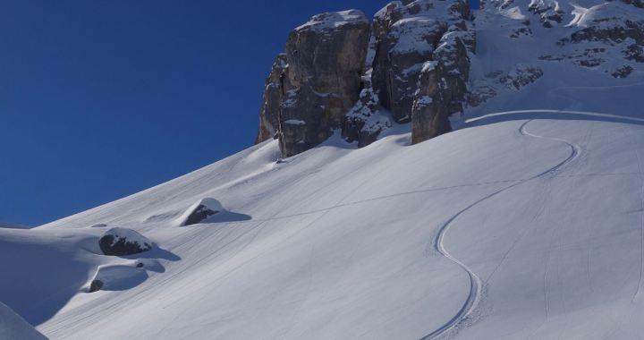 Hasenflüeli (2.412 m), Schweizer Powder-Träumchen von St. Antönien