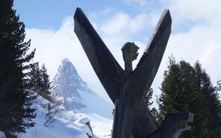 Zervreilasee (1.862 m), magic Freeride-Arena in der Surselva