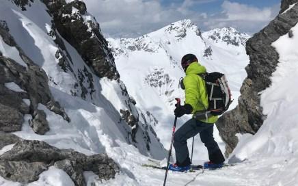 Ducanscharte (2.893 m), steiles N-Kar im Sertigtal, Davos