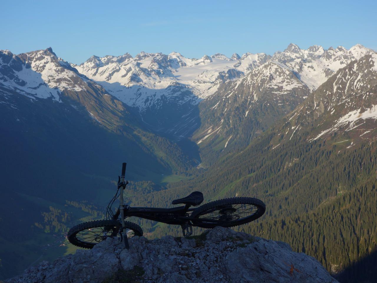 Bester Silvrettablick von Klosters: am Gotschnagrat