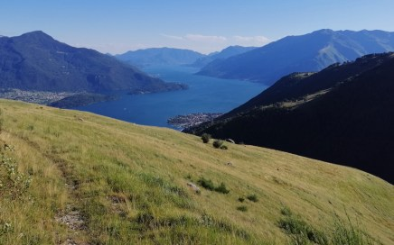 Gera Lario, Flowtrails mit Panorama am Comer See