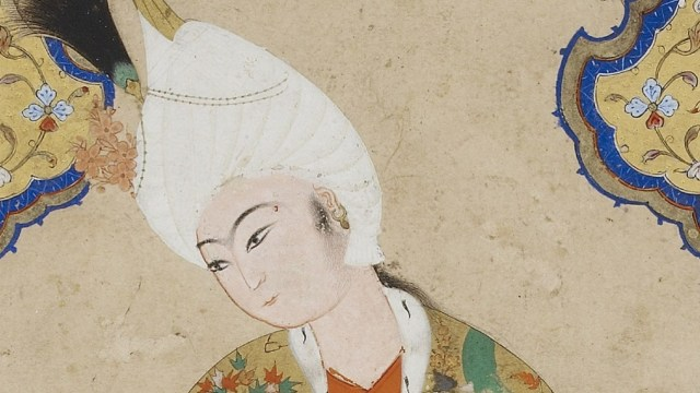 Illuminated painting of a young prince.