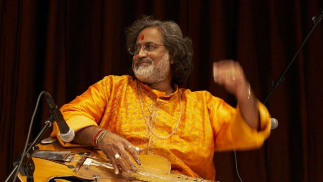 Performer: North Indian Classical Music: Vishwa Mohan Bhatt, mohan vina; Subhen Chatterjee, tabla