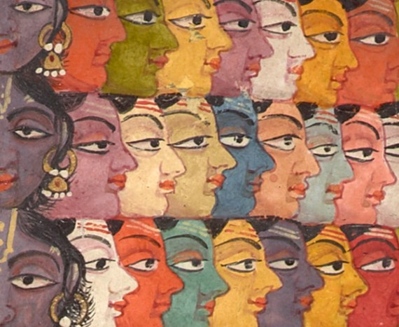 Vishvarupa (detail) from the exhibition, Yoga: The Art of Transformation