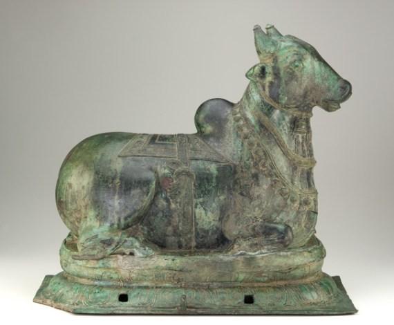Nandi; India, Chola dynasty, 12th century; bronze; Purchase, F1985.30