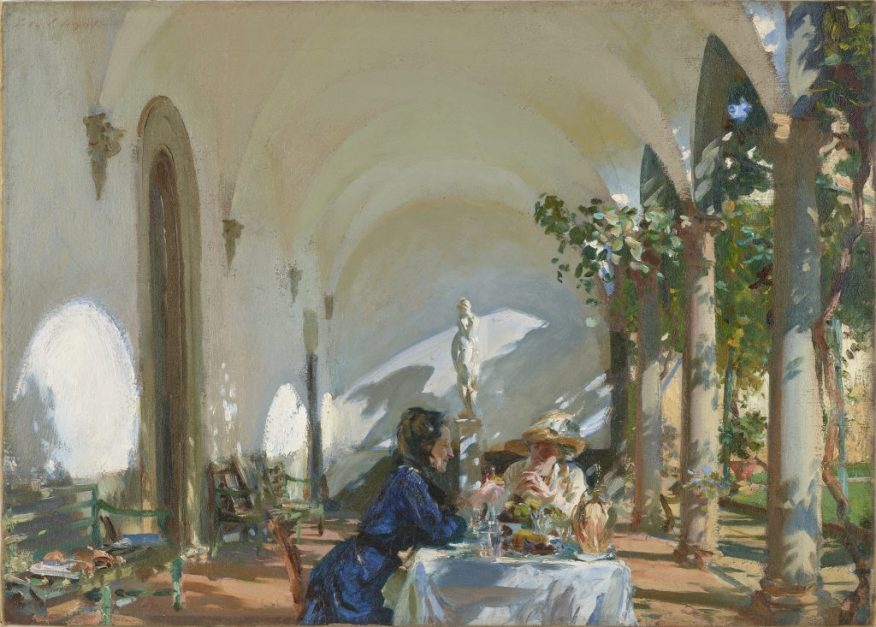 Breakfast in the Loggia; John Singer Sargent (1856–1925); United States, 1910; oil on canvas; Gift of Charles Lang Freer, F1917.182a–b