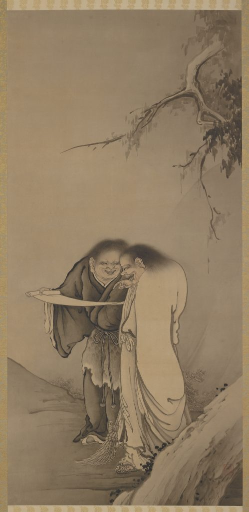 The Chinese Taoist Immortals, Han-shan and Shih-te (Kanzan and Jittoku); Hashimoto Gahō (1835–1908); Japan, Meiji era, 1886; ink and slight tint on paper; Gift of Charles Lang Freer, F1902.227