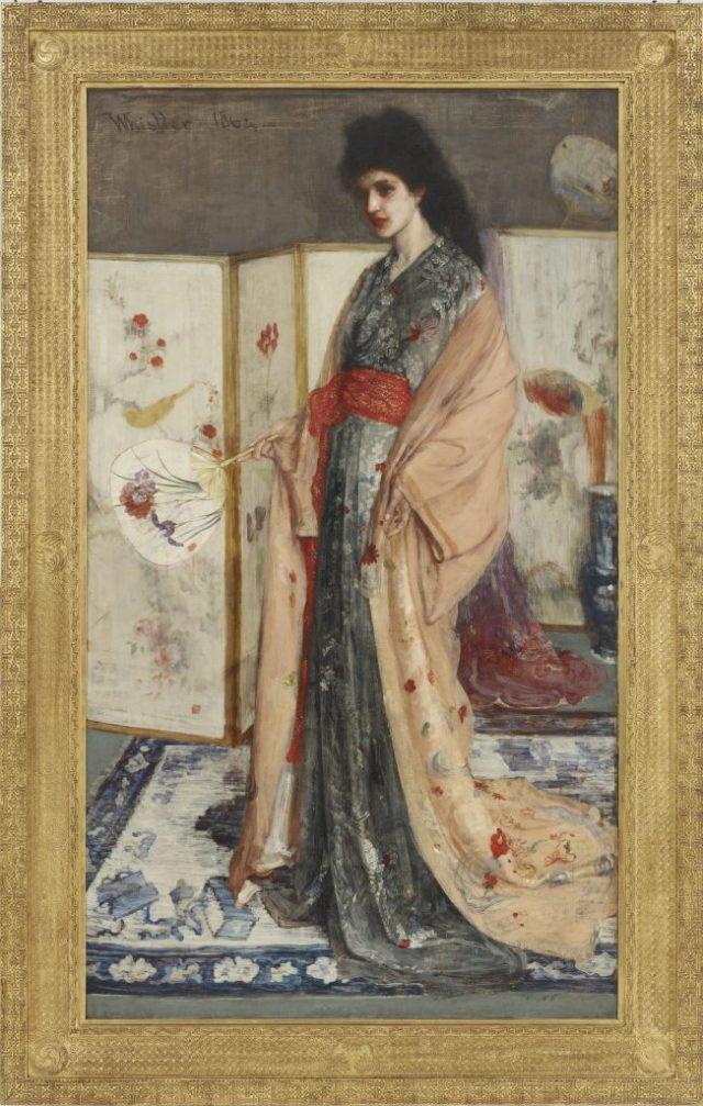 The Princess from the Land of Porcelain (La Princesse du pays de la porcelaine); James McNeill Whistler, 1863–65; oil on canvas; F1903.91a–b