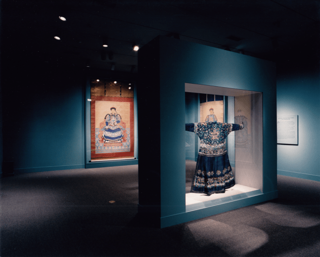 """The robe on view in our 2001 exhibition """"Worshiping the Ancestors: Chinese Commemorative Portraits."""""""