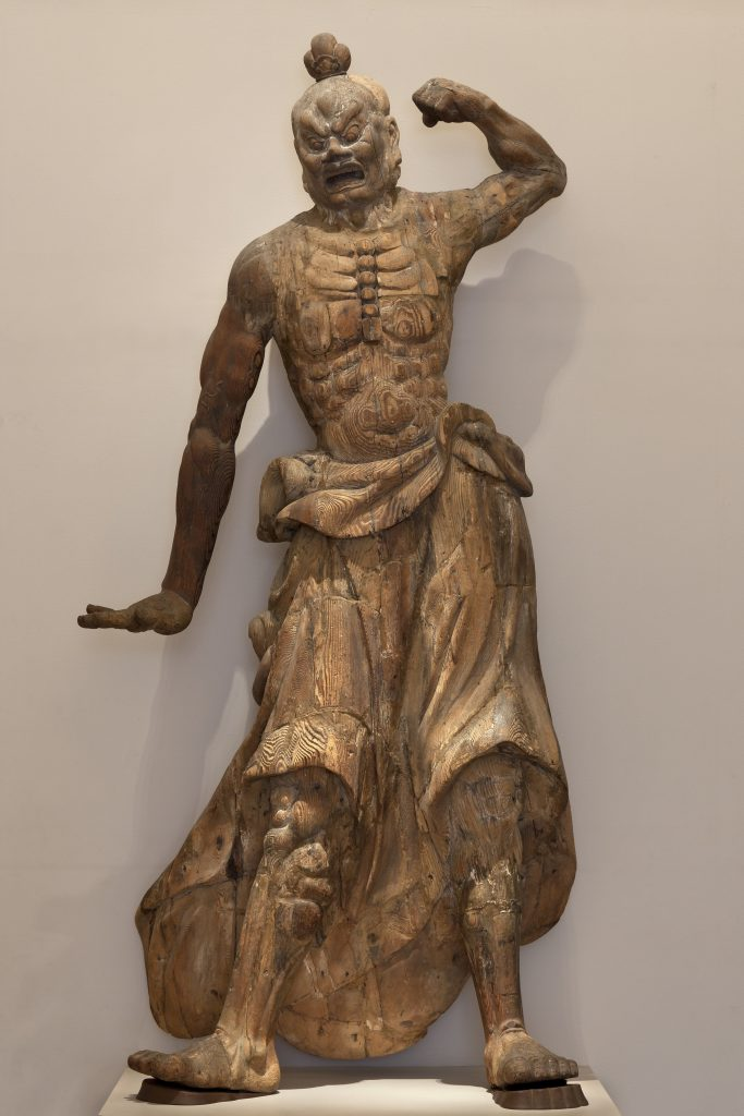 Guardian figure; Japan, Kamakura period, 1185–1333; wood (Cryptomeria japonica); Purchase—Charles Lang Freer Endowment, F1949.20