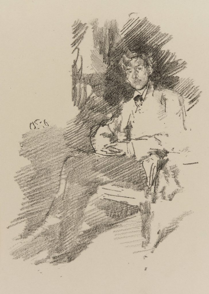 Walter Sickert; James McNeill Whistler, 1895; lithograph on paper; Gift of Charles Lang Freer, F1905.108