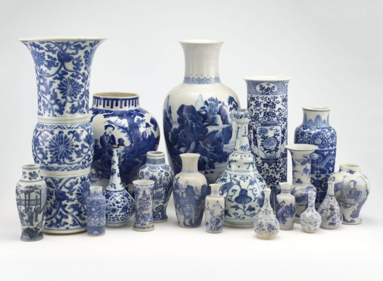 Chinese porcelains from our collection, produced in the Jingdezhen region of China during the Kangxi reign (1662–1722)