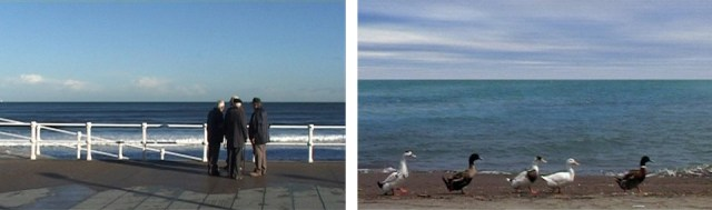 "Stills from ""Five Dedicated to Ozu"" (2003, 74 minutes) by celebrated director Abbas Kiarostami."