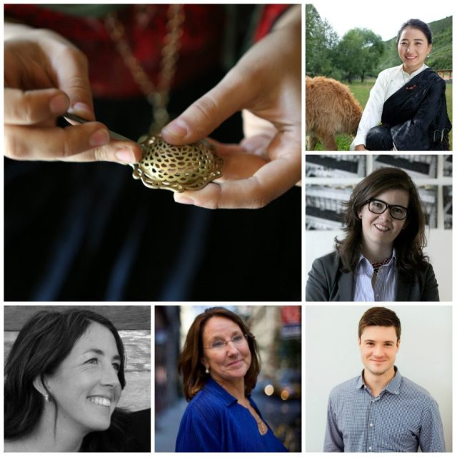 Our speakers at tomorrow's open house. Clockwise from top right: Dawa Drolma, Cynthia Lawson Jaramillo, Brendan Groves, Peggy Clark, and Annie Waterman.