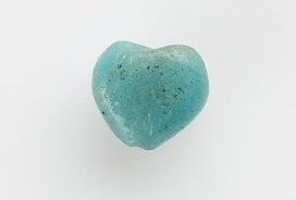 a heart-shape turquoise stone
