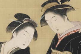painting of two Japanese women