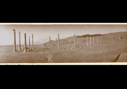 Ruined columns in desert