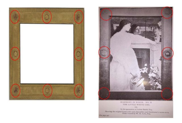 empty frame (left), frame with girl (right)