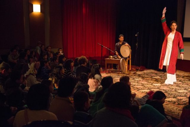 Xanthe Gresham captivates her audience with stories from the Book of Kings.
