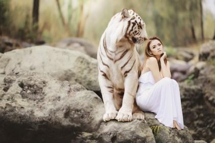 tiger & woman