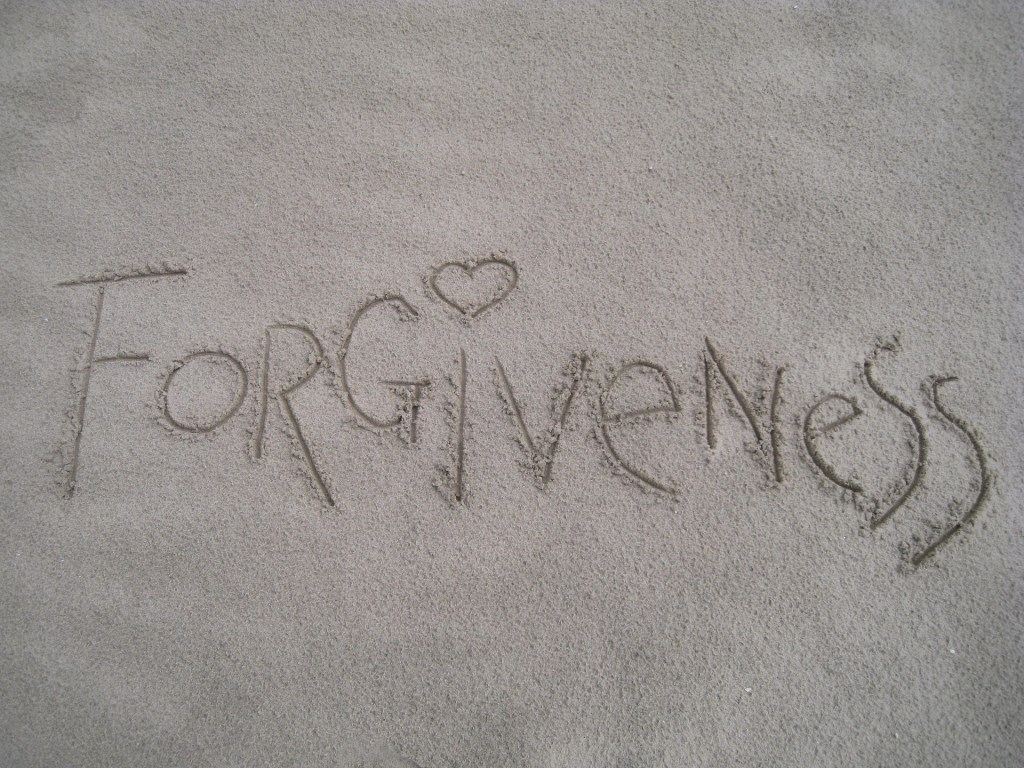 forgiveness in sand