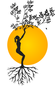 silhouette growing and grounding