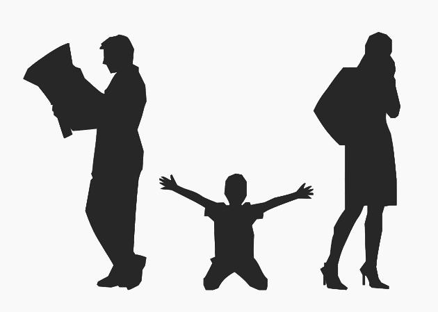 離婚時孩子被卡在中間