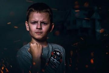 tough angry boy