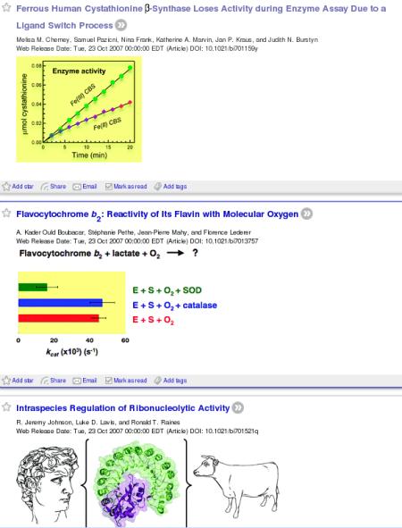Feed of Biochemistry journal