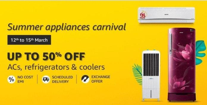Amazon Summer Appliances Carnival sale