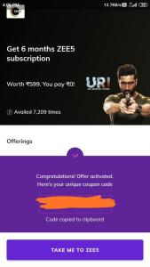 Zee5 Premium Subscription Free 03