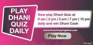 Dhani Quiz Answers