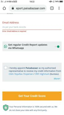 How to Check Credit Score on Paisa Bazaar 03