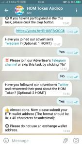 HOM Airdrop Refer and Earn 12