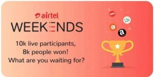 Airtel Weekend Quiz Answers