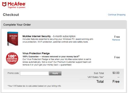 McAfee Internet Security Free 01