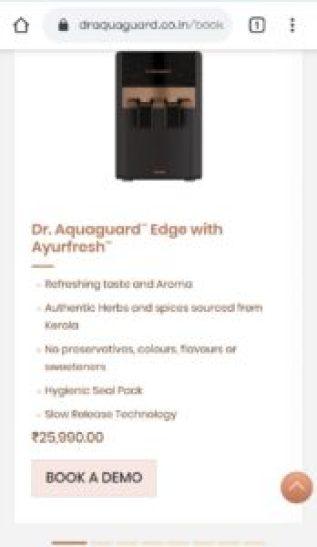 Dr. Aquaguard RO Free Demo
