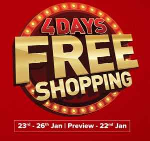 Central 4 Days Free Shopping