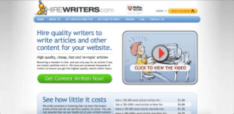 hirewriters free sites like upwork