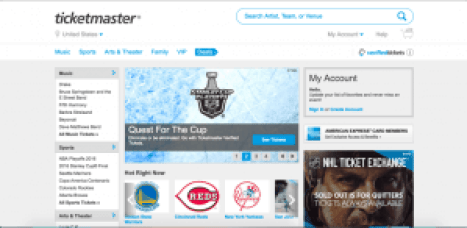 sites like ticketmaster online