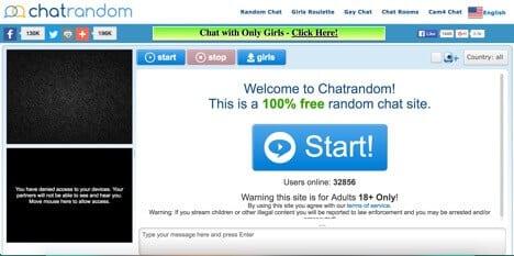 sites like omegle chatrandom