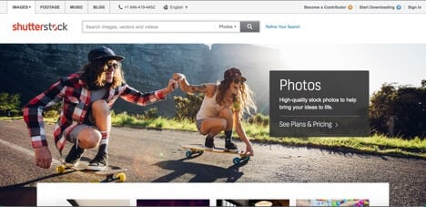 Shutterstock sites like Fotolia