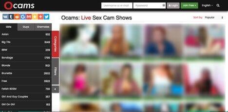 Sites like Chaturbate oCams