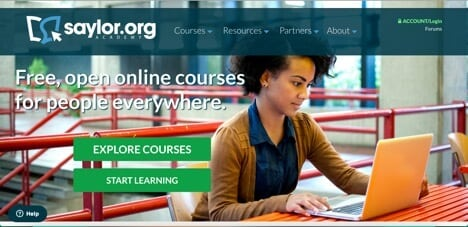 Sites like Coursera Saylor Academy